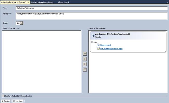 Feature Configuration
