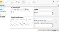 Translation Deutsch Site Settings