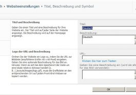 Translation Deutsch Site Settings
