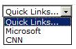 Quick Links Drop Down Menu