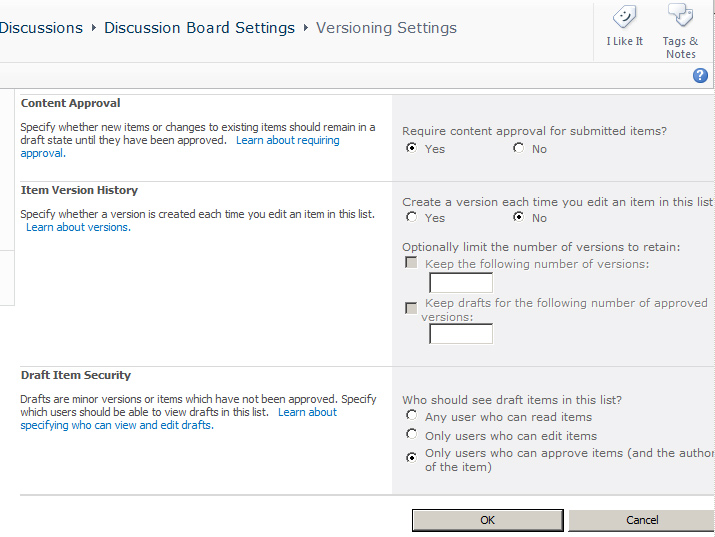 Enabling Discussion Board Moderation