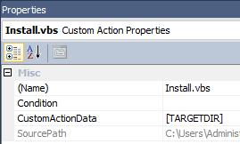 Custom Action Properties