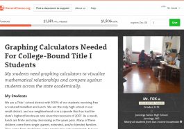 Donors Choose Calculator Project