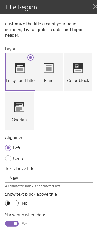 Modern Page Editing Options