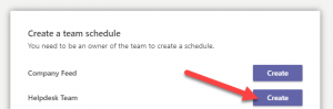 Create Shift Schedule Dialog