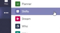 Shifts App in Teams