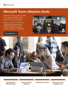 Microsoft Teams Adoption Guide Flipbook