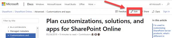Editing a Help Document on Docs.Microsoft.Com