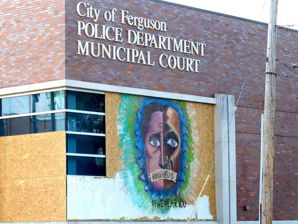 Artwork on Ferguson Police Station